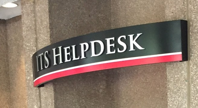 New Helpdesk sign